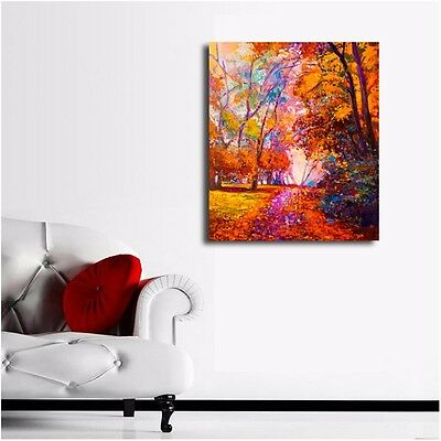 50×60×3cm Forest Abstract Stretched Canvas Prints Framed Hanging Wall Art Decor