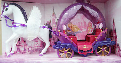 Princess Princess Coach Doll carriage and Dolls horse with Wings 60 cm