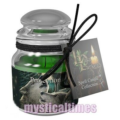 New * Protection Spell Candle * Lisa Parker Lavender Jar Candle From Nemesis Now
