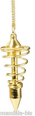 Pendulum Spiral Golden Large Model (Dowsing, clairvoyance, medium)