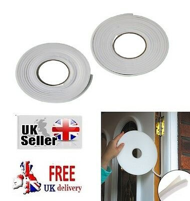 2 Draught Excluder Tape Seal Doors Windows Foam Weather Strip Insulation Draft