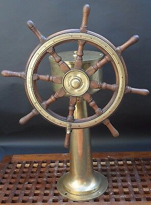 rare Nautical Steering Station Genuine Antiques Maritime Ship Wheel