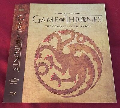 Game of Thrones: Season 5 Fifth Best Buy EXCL Targaryen BLU-RAY SLIPCOVER ONLY