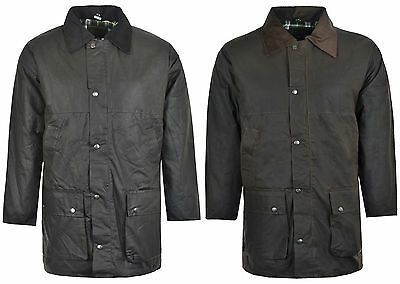 Men's Turnstone Padded Wax Cotton Rain Jacket Coat Hunting Riding size S-XXXL