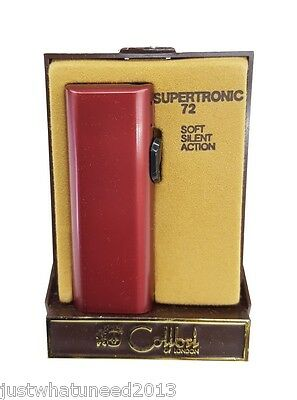 Colibri Supertronic 72 Soft Silent Action Battery Operated Pocket Lighter Red