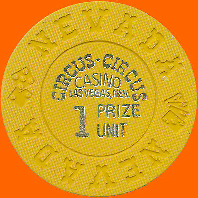Circus-Circus 1972 One Prize Unit Ncv Hs Casino Chip Las Vegas Nv Free Shipping