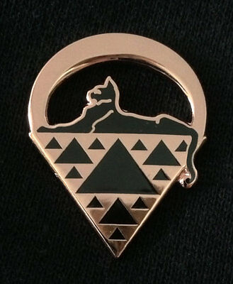 Grateful Dead JGB Sierpinski Cats Under the Stars Copper Hat Lapel Pin