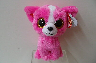 New Rare Show Special PASHUN The Pink Chihuahua(36206) From Beanie Boo By Ty