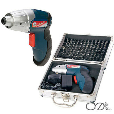 3.6V Li-ion Lithium Electric Cordless rechargeable screwdriver with 102 bits