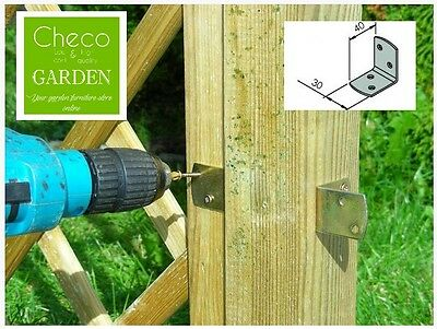 Galvanised steel L clip brackets ANGLE CONNECTORS for fences and trellises