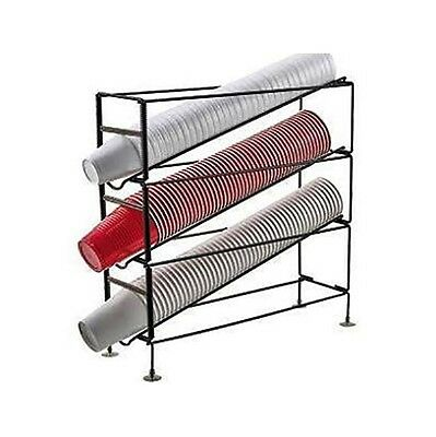 3 Section Wire Cup Dispensing Rack Beverage Coffee Cup Organizer NEW!