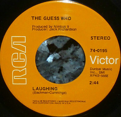 "* * THE GUESS WHO's 2-SIDED 1969 HITS ""LAUGHING/UNDUN"" CLEAN M- 45!"
