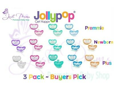 3 pack Jollypop ~ the new Gumdrop ~ Dummy Pacifier Soother Pick size and colour