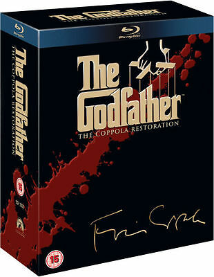 THE GODFATHER COLLECTION [Blu-ray Box Set] Coppola Restoration 1-3 Movie Trilogy