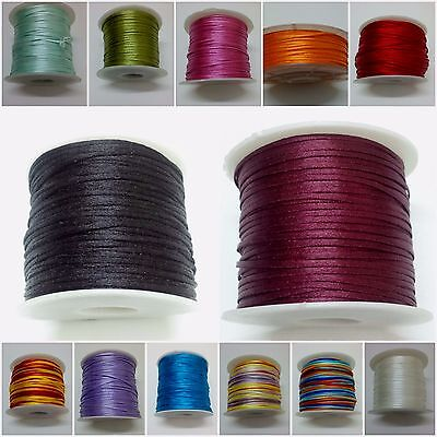 Art Silk Rayon Cord Thread Ribbon - Crochet Embroidery Jewelry 70 Yards 1.5mm