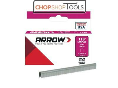 Arrow ARRT1838S T18 Staples 10mm (3/8in) Box 1000