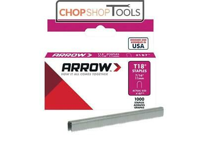 Arrow ARRT18716S T18 Staples 11mm (7/16in) Box 1000