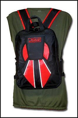 Skydiver Syndrome Backpack Parachute Mini Container Rig Gym Book Bag Red New S03