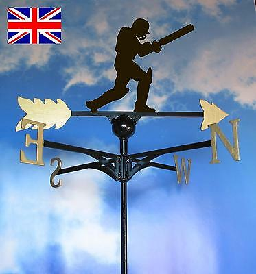 Extra Large High Quality British Made Cricketer Weathervane.(82LG)