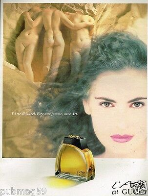 Publicité advertising 1991 Parfum L'Arte di Gucci