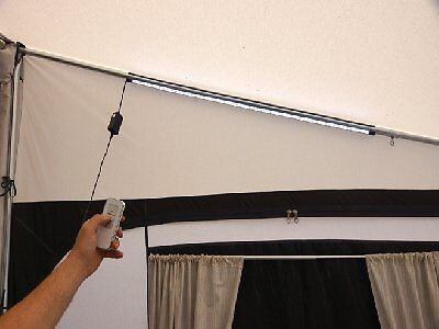 Leisurewize Caravan Tent Awning Light Remote Long Connectable LED 7W 240v -100cm
