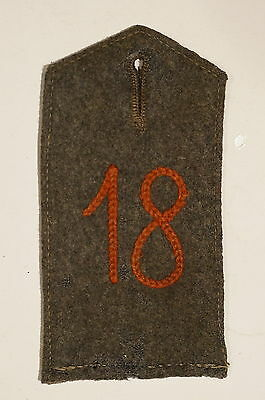 WW1 Imperial German 18th (1st Posen) Infantry Feld Grau Shoulder Board