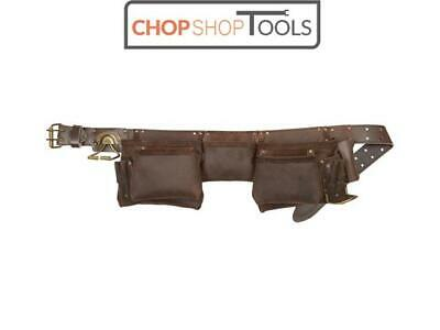 Kuny's 12 Pouch/Pocket Oil / Oiled Leather Carpenters Tool Belt / Apron KUN19427