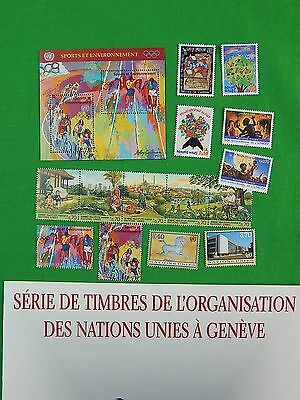 1996 United Nations Geneva Stamp Collection w/ Book