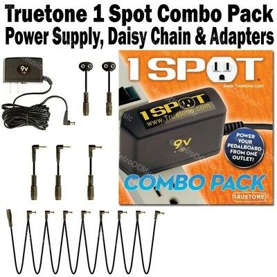 Visual Sound 1-SPOT COMBO PACK Pedal Power Supply NW1CP2 One Spot Truetone NEW