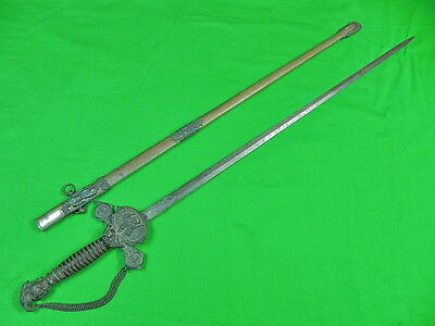 Antique Vintage US Masonic Knight of Pythias Fraternal Engraved Sword Scabbard