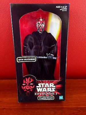"star wars DARTH MAUL w lightsaber action figure - EPISODE 1 - 12"" TALL - 1998"