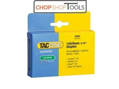 Tacwise TAC0346 140 Heavy-Duty Staples 8mm (Type T50, G) Pack 2000
