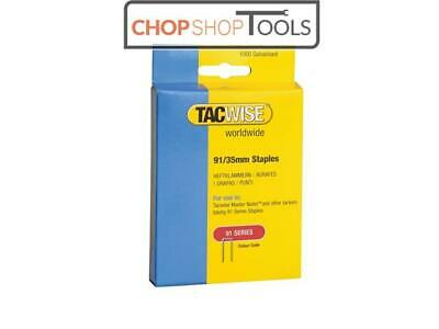 Tacwise TAC0746 91 Narrow Crown Staples 35mm - Electric Tackers Pack 1000