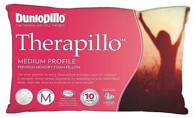 NEW Dunlopillo Therapillo Premium Memory Foam Medium Profile Pillow rrp $169.95