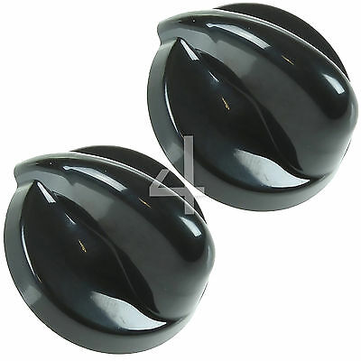 2 x Black Cooker Oven Hob Control Knob Dial Flame Burner Switch For Belling