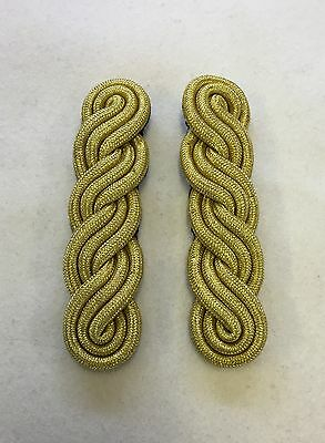 Female Officers Gold 3 Ply Shoulder Cords, Triple Twist, Army, Military, Dress