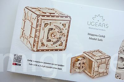 UGears * SAFE * Self-propelled mechanical wooden model KIT 3D puzzle Assembly