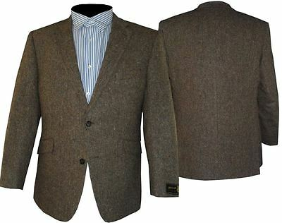 Scott Fawn Brown Donegal Tweed Wool Sports Jacket, Size 44 To 60 S/r/l