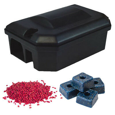 PROFESSIONAL RODENT BAIT STATION BOX NO TRAP & Bait Blocks POISON Rat Mouse Mice