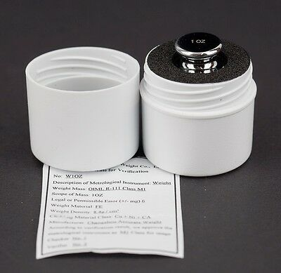 1 OZ One Ounce Chrome Scale Test or Calibration Weight