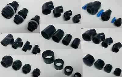 AQUARIUM & POND SOLVENT WELD PVC PIPE FITTINGS 20mm 25mm 32mm 40mm