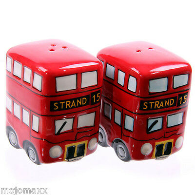 London Routemaster Bus Ceramic Salt and Pepper Set Home Kitchen Gift Box LON20