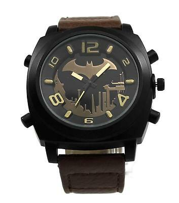 Batman Arkham City Earth Brown Strap Watch (ARK5007)