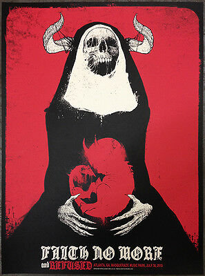 FAITH NO MORE / REFUSED poster Atlanta 2015 by Godmachine VERY LIMITED!