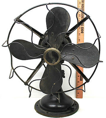 "Vintage 1930's Westinghouse 12"" Electric Fan Steampunk Industrial 'Newark-Works'"
