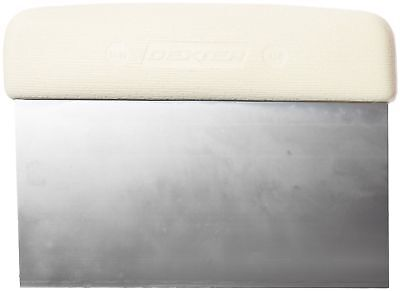 """Dexter-Russell - Sani-Safe 19783 6"""" x 3"""" White Dough Cutter/Scraper with Poly..."""