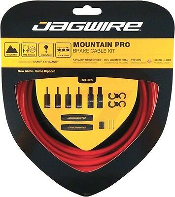 Jagwire Mountain Pro Brake Cable Kit Stainless Steel fits SRAM & Shimano MTB RED