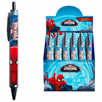 MARVEL Ultimate Spiderman Fan Kugelschreiber mit blauer Mine Stift Schule Kuli