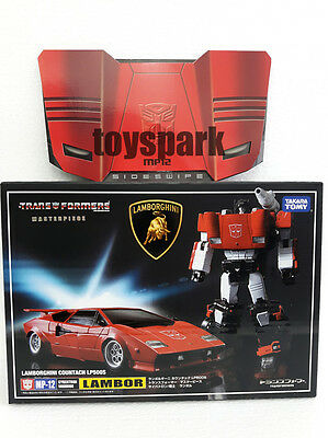 Takara Tomy TRANSFORMERS Masterpiece MP-12 SIDESWIPE Lambor G1 figure with COIN