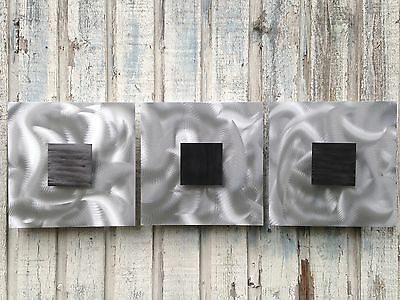 Abstract Silver Metal Art Sculpture Home Decor by Holly lentz